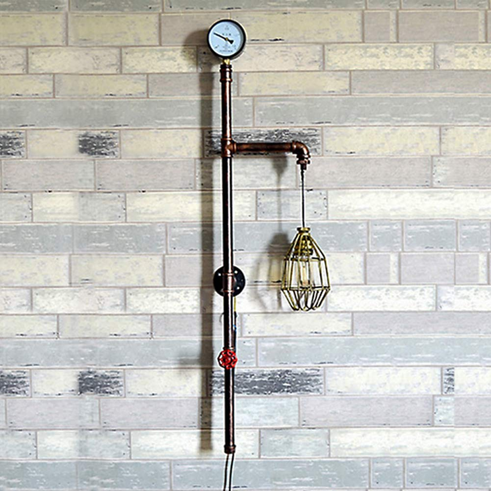 Retro Waterpipe Iron Plated Wall Lamp Industrial E27 Vintage Wall Light for Restaurant Bar Corridor Home Indoor Art Deco Lamp ...
