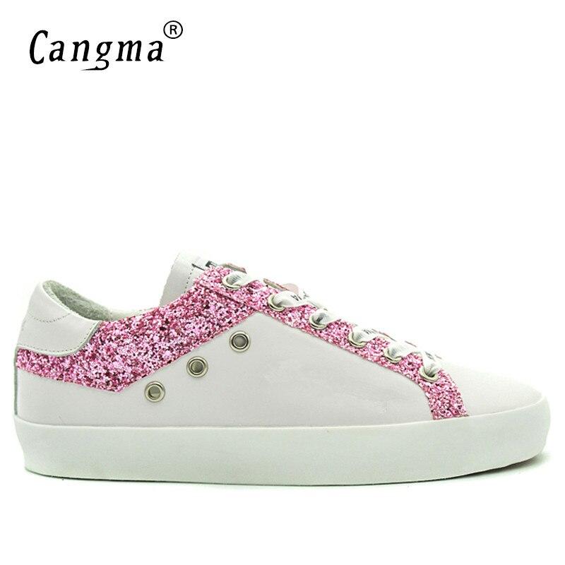 Luxus Shoes Größen Mann Männer Cangma Trainer Männlichen Mode Echtes Casual Schuhe Marke Shoes white Große Schuh Weiß White Leder Sneakers TqTEF