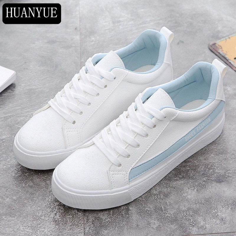 Top Quality PU Leather Shoes New 2018 Fashion Womens Vulcanize Shoes Casual Footwear Breathable Platform Creepers Spring