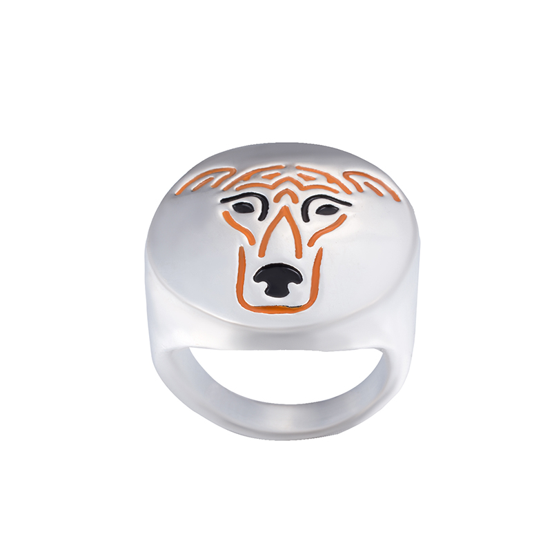 Wholesale Greyhound with color selection enamel ring lovers and owners-Pet Jewelry unisex 12Pcs/Lot