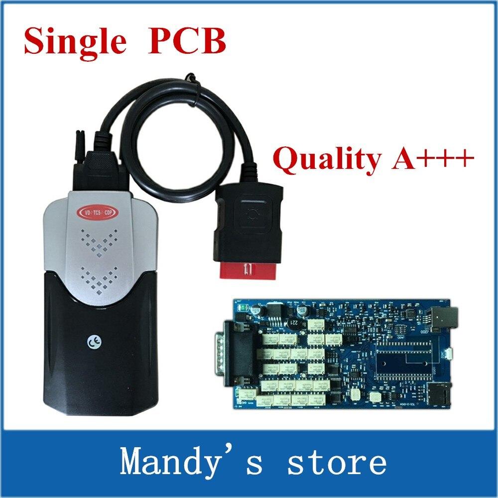 imágenes para Sola Placa PCB! nuevo VD vci TCS CDP pro plus sin Bluetooth mvd Coches Camiones escáner herramientas 2015. R1/2014. R3 software de DVD