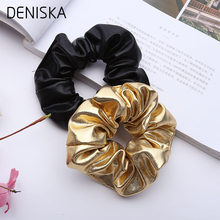 1PC Fashion Women New Gold Black Elastic Hair Bands Ponytail Holder Rubber Bands Elegant Tie Gum Hair Rope Lady Hair Accessories(China)