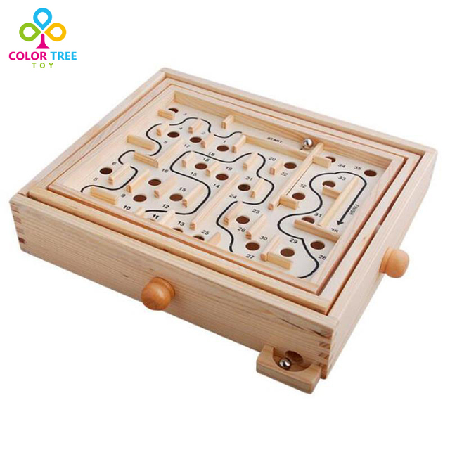 Creative Maze Wooden Labyrinth Parent-child Game Intellectual development Toys Desktop Game Learning Educational Toys
