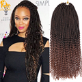 20inch Goddess Burgundy Faux Locs Crochet Hair 24Root Curly Faux Locs Hair Braids 100g Crochet Braids Freetress Water Wave