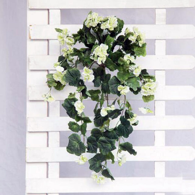 1 Set Hanging Artificial Flowers Rattan For Balcony Decoration Wedding  Decoration 5 Colors Cloth Flower Free Shipping