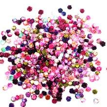 100 шт смешанные полимерные Цветочные украшения для украшения с плоской задней стороной кабошон украшения для скрапбукинга аксессуары для дизайна ногтей наклейки