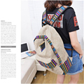 Best Gift Wholesale Canvas Backpack Floral Stripe School Shoulder Bag Travel Rucksacks Jan20