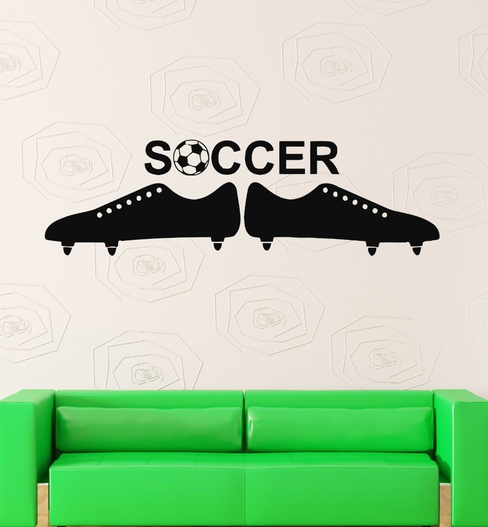 Soccer Ball European Football Team Sports Man Decor Wall Vinyl Sticker