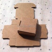 5.5*5.5*2.5 см 50 шт./лот ювелирные изделия/носок коричневый крафт-бумага упаковку, свадебный подарок пользу упаковочная коробка