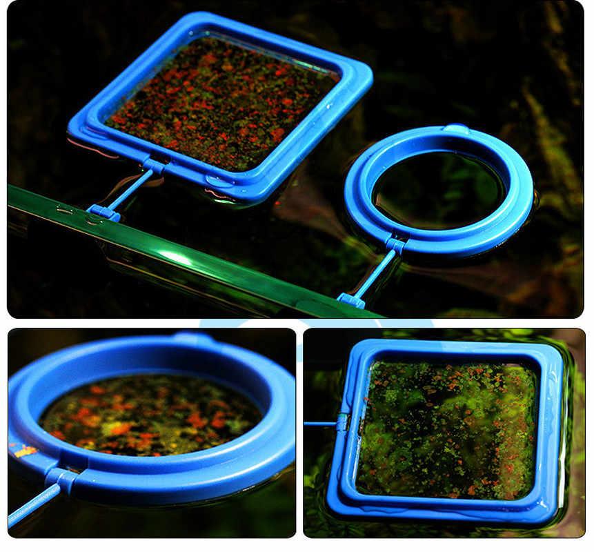 חדש אקווריום האכלת טבעת דגי טנק תחנת צף מזון מגש מזין כיכר מעגל אבזר מים צמח ציפה יניקה כוס
