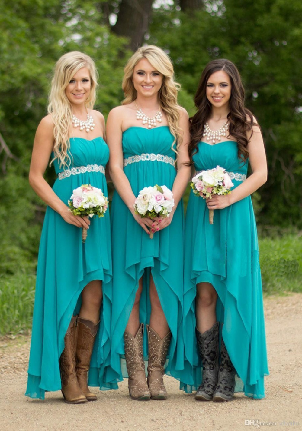 Popular coral with turquoise dress bridesmaid buy cheap coral with coral with turquoise dress bridesmaid ombrellifo Images