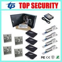 С3 400 TCP/IP смарт карты система контроля доступа 4 двери контроля доступа с блоком питания коробка электрический замок и другие аксессуары