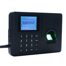 2,4 дюймовый TFT ЖК-экран биометрический отпечаток пальца пробойник времени часы офис посещаемость рекордер сотрудников машина проверка-в рекордер