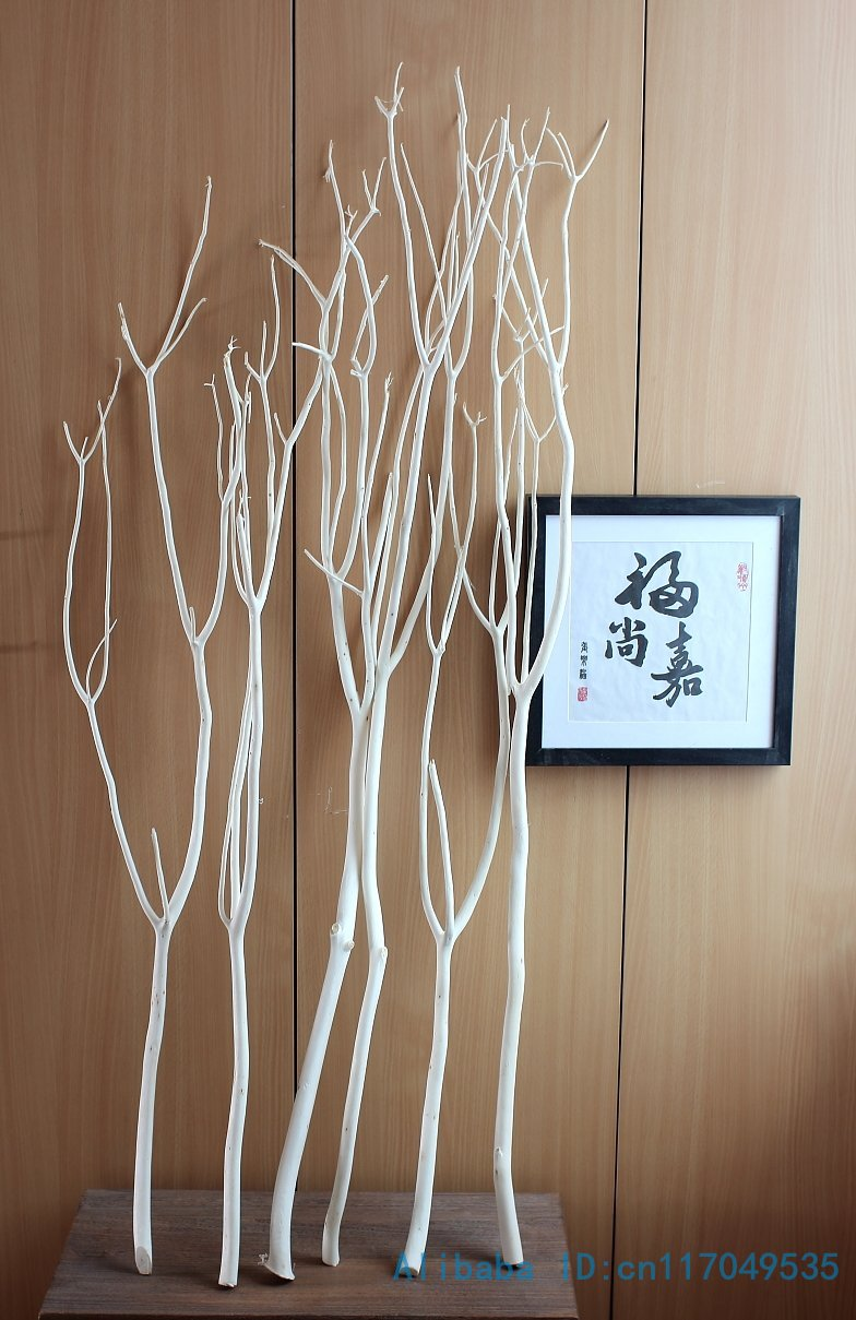 6 Pcs Height From 80cm To 120cm Natural Wood White Tree Dried Branch Plant Home Wedding Decoration Gift F328 In Artificial Flowers