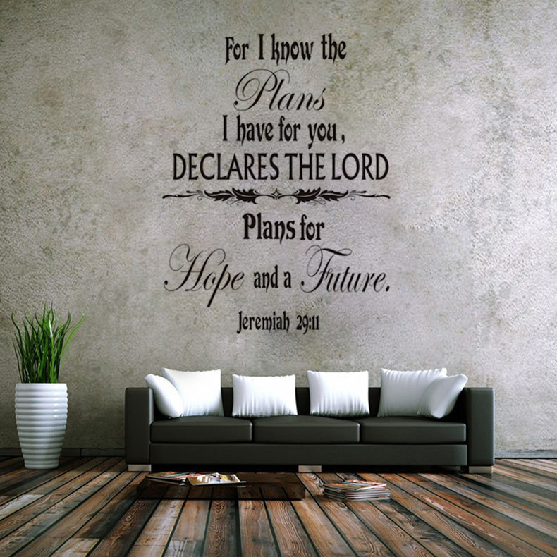 Home Decor Mural Art Wall Paper Stickers ~ Jeremiah scripture vinyl quotes wall decal home