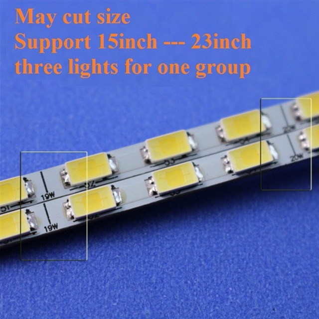 2 kit de rétro-éclairage de LED de lumière réglable de 24 pouces 540mm, travail pour 15