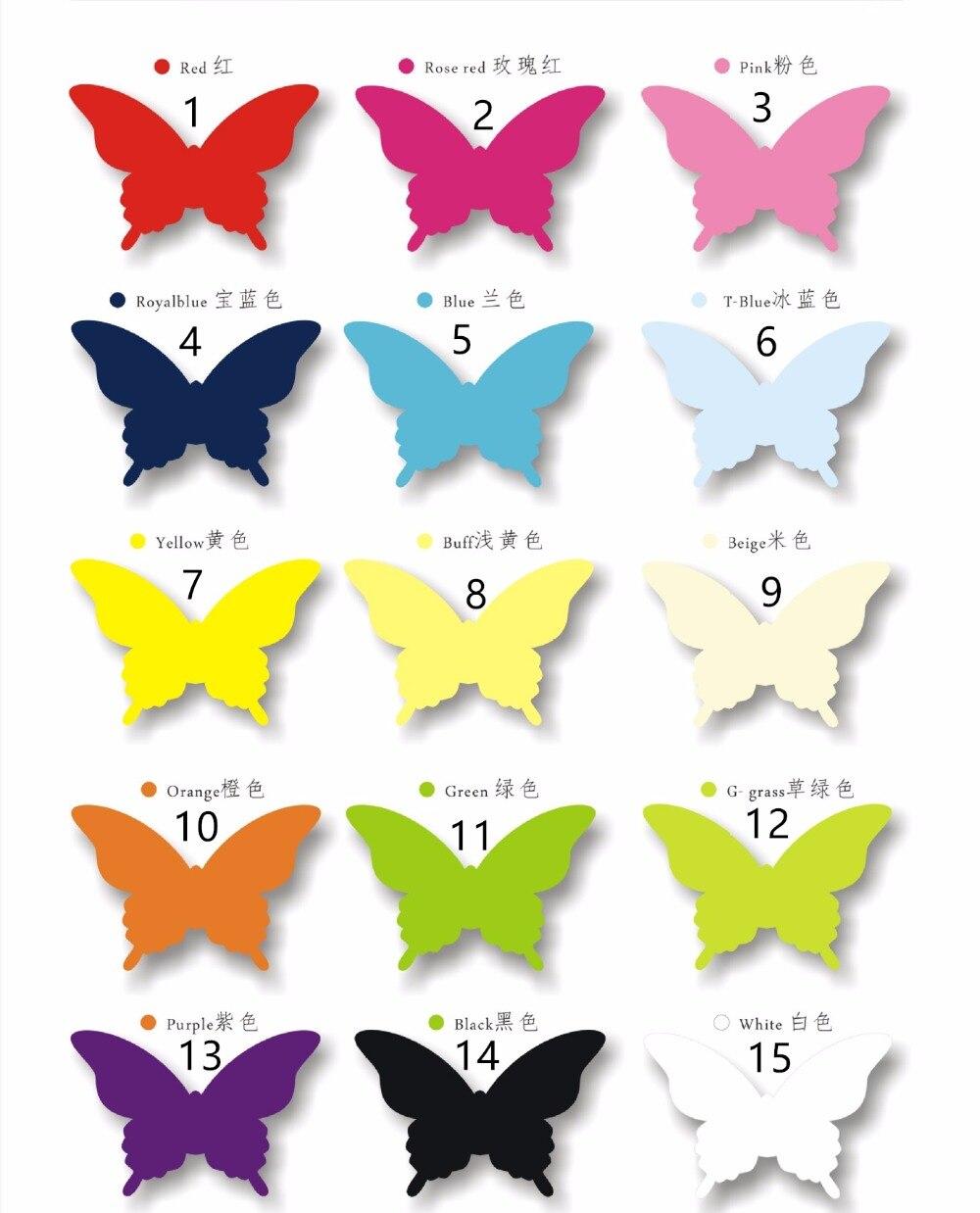 20pcs 15color Laser Cut Vine Butterfly Paper Place Card / Escort Card/Invitation Card For Wedding Party Decoration Home Decor