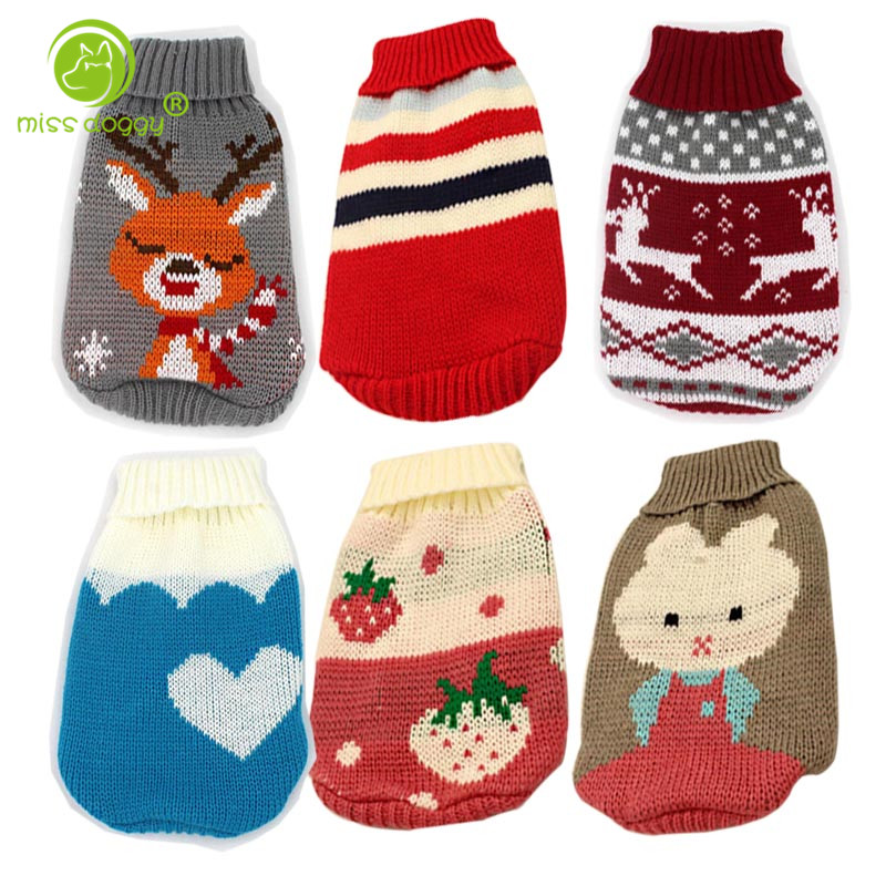 Pet Dog Clothes Autumn Winter Chihuahua Puppy Cat for Small Dogs Clothing Christmas Sweater Warm Pets Clothing Ropa Para Perros