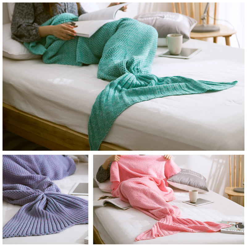 Free Shipping New Pattern Super Soft Hand Crocheted Mermaid Tail