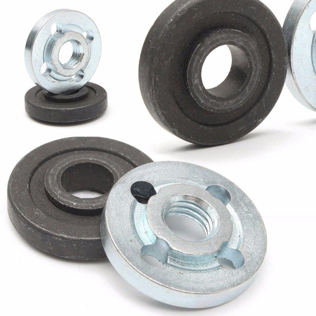 1set  M10 Angle Grinder Flange Kit Lock Nut Inner Outer Set Lathe Machining Of Steel