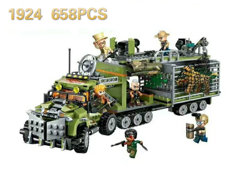 1924 658pcs police animals Fit Constructor Model Kit Blocks Compatible sluban Bricks Toys for Boys Girls