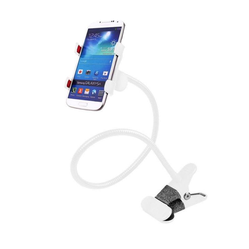 Metal Lazy Mobile Phone Bracket Durable Double Clip Open Holder 5 Colors