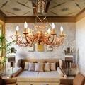 Американский кантри сад гостиная креативная столовая спальня Европейский Стиль Железный арт простой подвесной светильник-цветок LP878