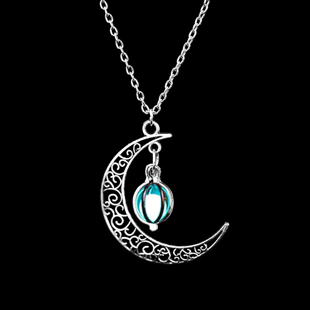 Vienkim Neo-Gothic Luminous Pendant Necklace Women Charm Moon In The Dark Glowing Stone Necklaces For Jewelry Christmas Gifts 15