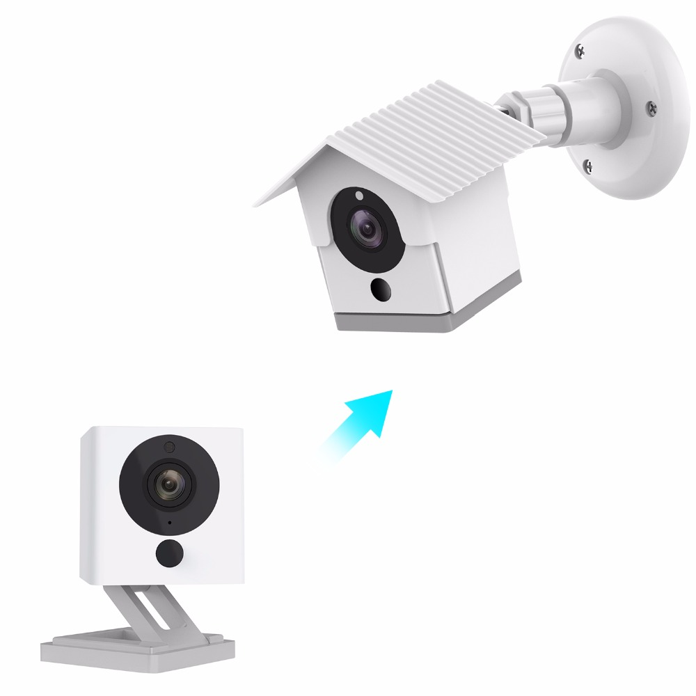 US $11 99 |Wyze Camera Wall Mount Bracket Weather Proof 360 Degree  Protective Adjustable Indoor and Outdoor Mount Cover Case for WyzeCam-in  Smart