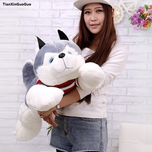 fillings toy large 75cm cute prone husky plush toy soft doll throw pillow birthday gift s1054