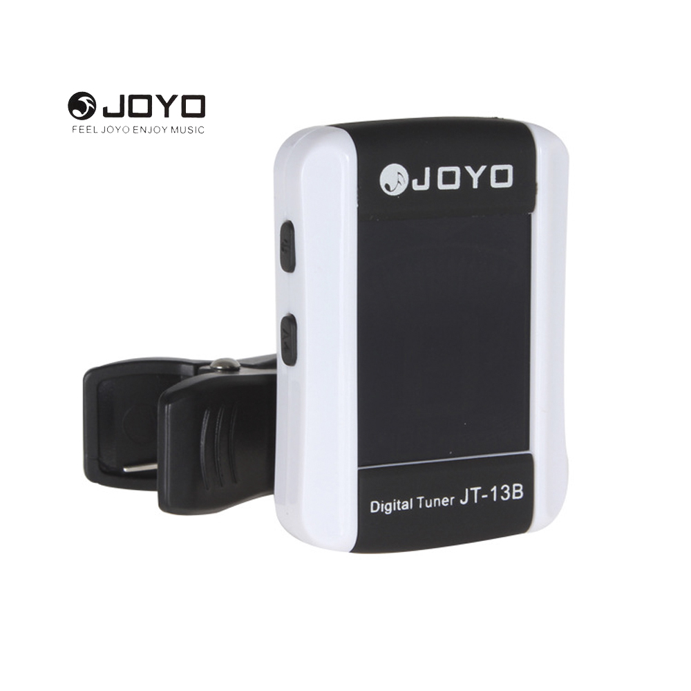 JOYO JT-13B Digital LCD Clip-on Guitart Tuner for Electronic Acoustic Guitar Bass Violin Ukulele Musical Instrument