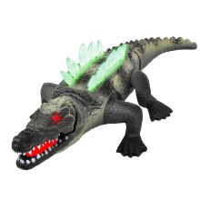 42cm simulacija električna krokodilska igrača z zvokom in svetlobo velik model plastičnih živali za otroke elektronski hišni ljubljenčki fant za rojstni dan