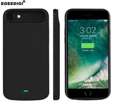 Egeedigi 5500mAh/8000mAh Portable Soft Silicone Battery Charger Case For iphone 7P 8 Plus 6s 6Plus battery Case  Power Bank Case