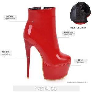 Image 3 - WETKISS เซ็กซี่รองเท้าส้นสูงข้อเท้ารองเท้าแพลตฟอร์มรองเท้าฤดูหนาว 2020 ใหม่สไตล์ซิปด้านข้างผู้หญิงรองเท้าหญิง stiletto รองเท้า