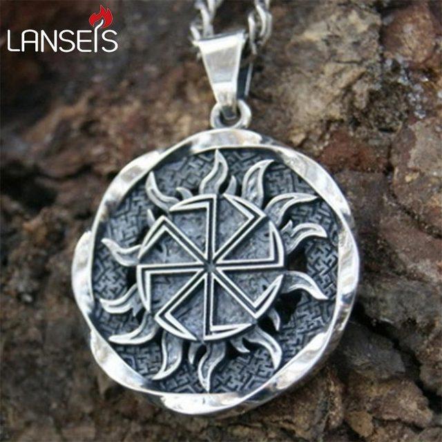 Lanseis10pc Alatyr Star Slavic Jewelry Sun Symbol Amulet Pendant