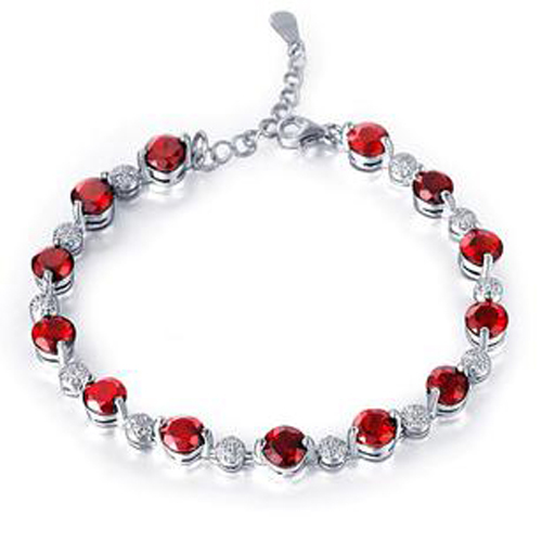 Sale Qi Xuan_Free Shipping Dark Red Stone Elegant Bracelets_S925 Solid Silver Fashion Bracelets_Manufacturer Directly SalesSale Qi Xuan_Free Shipping Dark Red Stone Elegant Bracelets_S925 Solid Silver Fashion Bracelets_Manufacturer Directly Sales