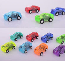 Colorful Mini Pull Back Car Toy Baby Kids Toy Transparent Car Model