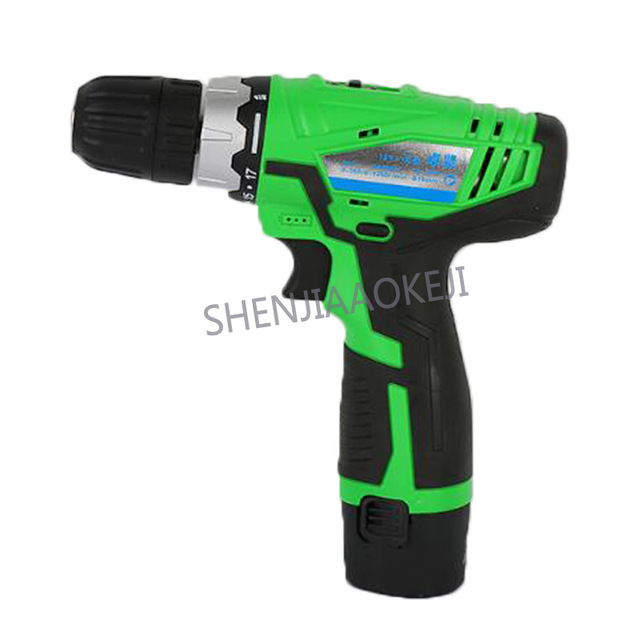 12V double speed charging drill 18+1(W) lithium drill rechargeable hand drill 0-780rpm Household electric screwdriver