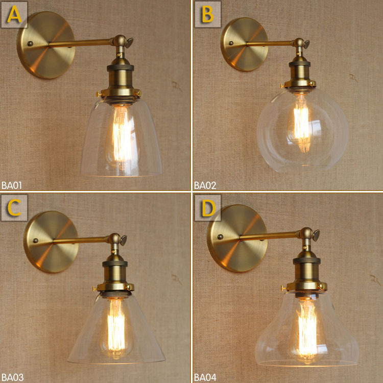 Brace Wall Light Glass Lamp North Sconce Lamps Sconces Led Fixture Bar Kitchen Luminaire Lampe Loft Industrial Retro Dining Room