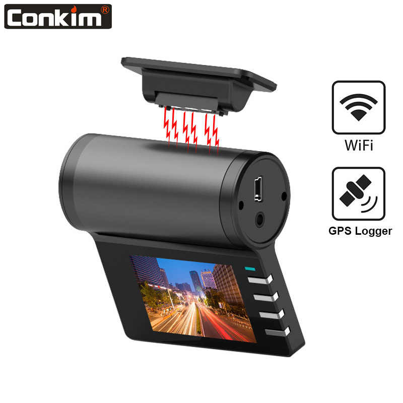 Conkim New G200 Car DVR Wifi Camera 1080P Full HD GPS Logger Parking Monitor 170 Degree Wide  Angle Dash Cam Magnetic Holder