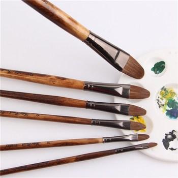 6pcs/Set high-grade weasel hair brush paintbrush tongue peak row acrylic paints oil paint Set Drawing Art Supplies - sale item Art Supplies
