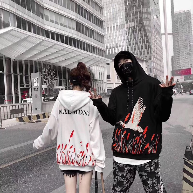 For Men hop Hipster white Hoodie Stork Spring Coat Black And 2019national Women hip Oversize BxWz1W8w