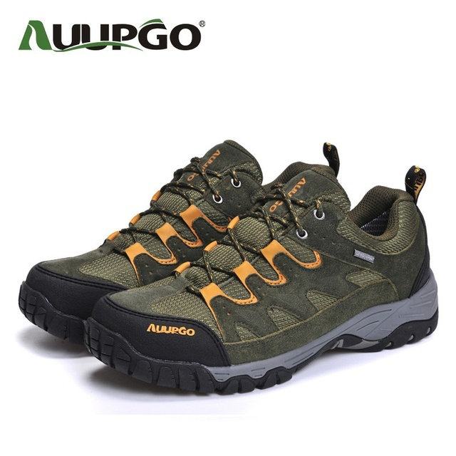 AUUPGO Men Casual Shoes Men Suede Leather Shoes High Quality Waterproof Outdoor Shoes For Spring Autumn Winter B2600