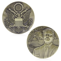 Bronze Plated Donald Trump American President Commemorative Novelty Coins 80mm H06