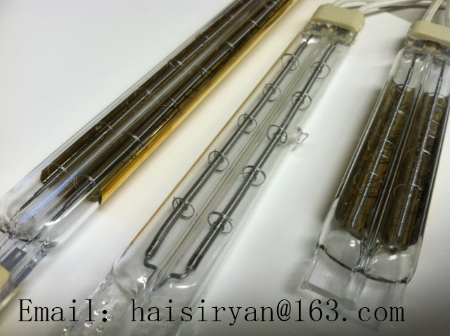 2000w twin tube Heraeus short wave IR radiant emitter halogen quartz glass heater infrared lamps