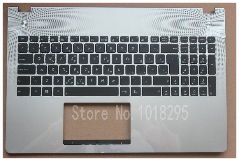 NEW Greece laptop keyboard for ASUS  N56 N56V N56VJ N56VM N56VZ backlight Silver keyboard with Palmrest Cover