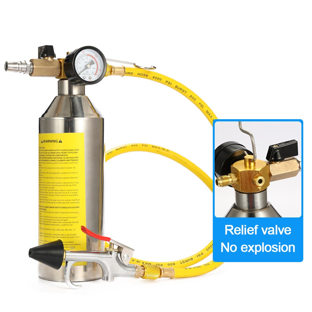Vehicle Cleaning Air Conditioning Tool Flush Canister Gun Clean Set R134a R12 For Auto A/C Air Conditioning Car Cleaning Kit