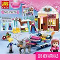 180pcs Princess Anna And Kristoff's Sleigh Model Set LELE Building Blocks Friends Figures Toy Compatible Legoe 41066