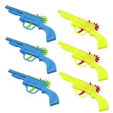 Mini gun Blocks Gift for Children Baby Kids Plastic Rubber Band Gun Mould Hand Pistol Shooting Toy for Kids Playing Toy(China)