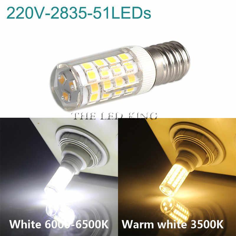 E14 bombilla LED, lámpara cerámica SMD de 7W, 9W, 12W, 220V, 230V, reemplazo de 40w, 60w, 80w, halógena para candelabro de cristal, refrigerador